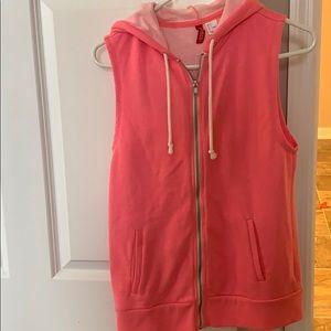 Hooded sleeveless vest